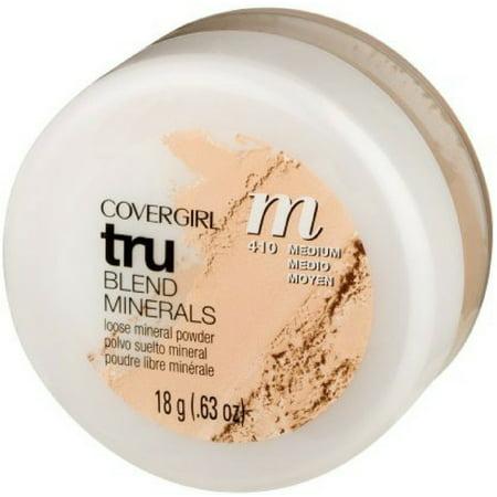 Cover Girl Trublend Loose Powder (CoverGirl TruBlend Minerals Loose Powder, Medium [410] 0.63 oz (Pack of 2) )
