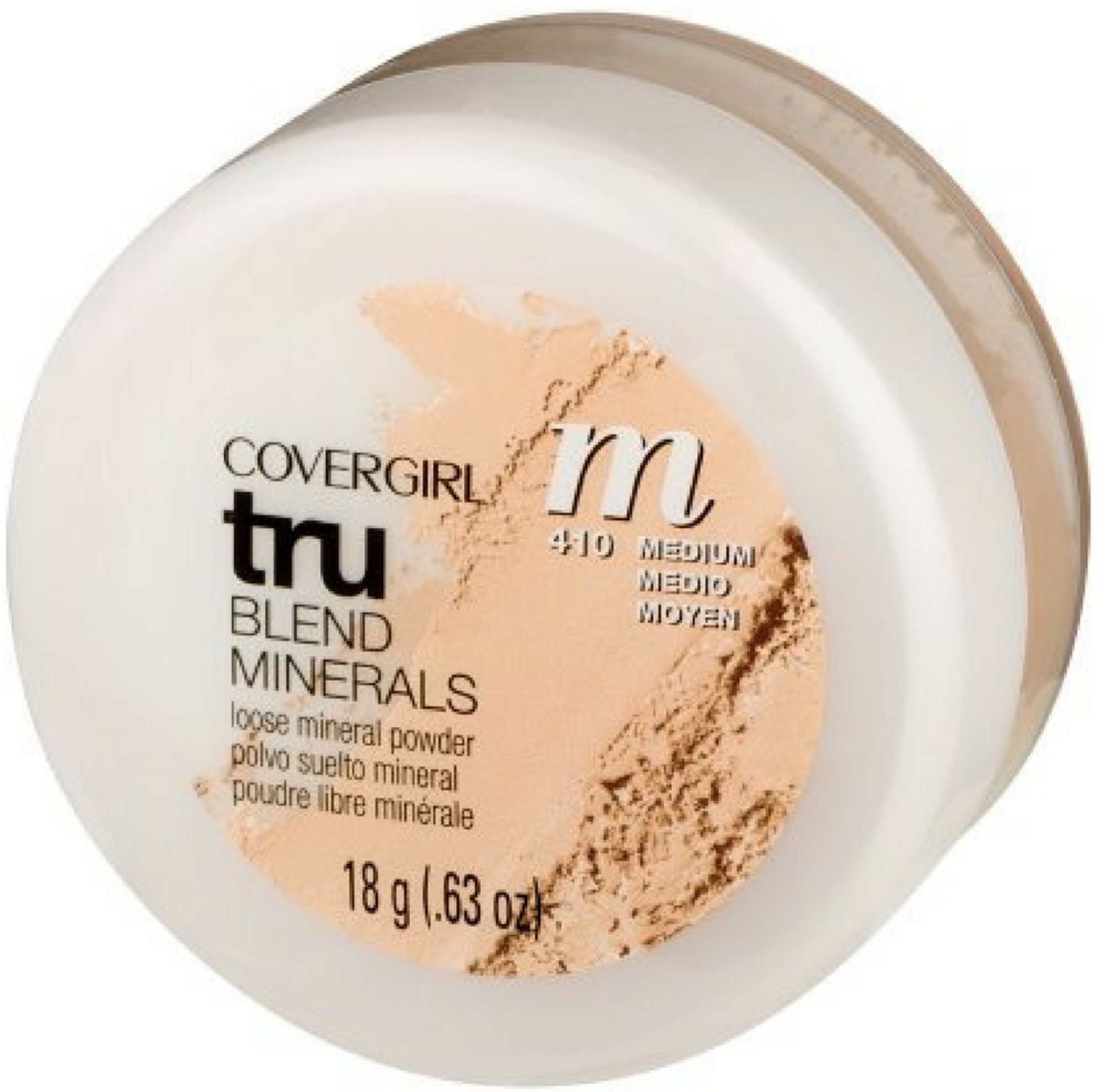 CoverGirl TruBlend Minerals Loose Powder, Medium [410] 0.63 oz (Pack of 2)