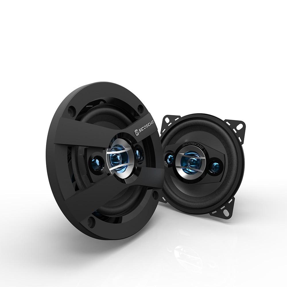 """Scosche HD4004SD - 4"""" 4-Way Car Speakers (Pair)"""