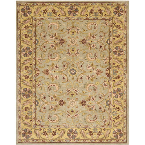 Charlton Home Cranmore Hand-Tufted Wool Green/Brown/Gold/Taupe/Salt White Area Rug