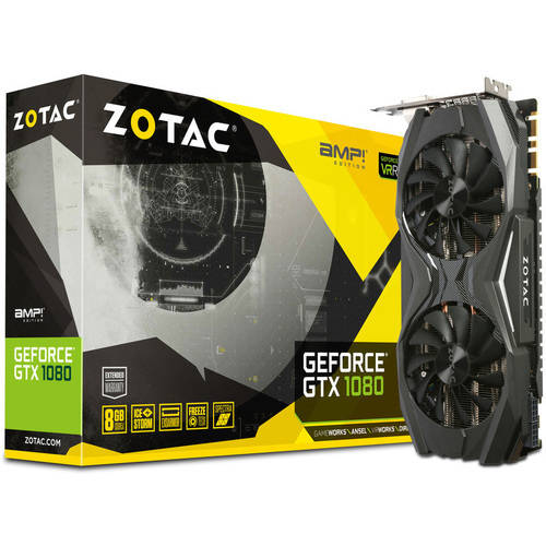 ZOTAC GeForce GTX 1080 Amp Edition 8GB GDDR5X PCI Express 3.0 Gaming Graphics Card