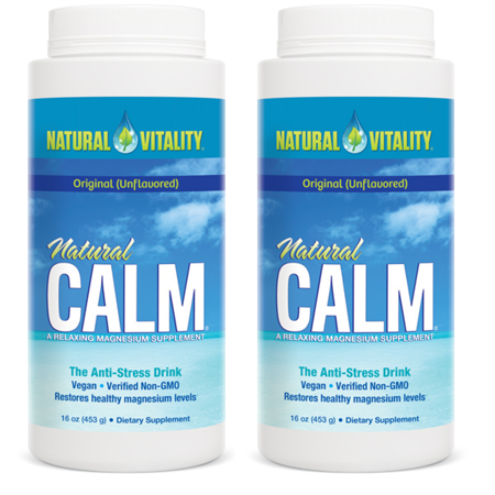 (2 Pack) Natural Vitality Calm Magnesium Supplement, Unflavored,