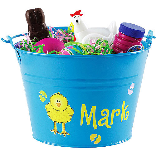 Personalized Easter Pail, Blue