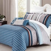 North Home Brooks 3 Piece Reversible Duvet Cover Set
