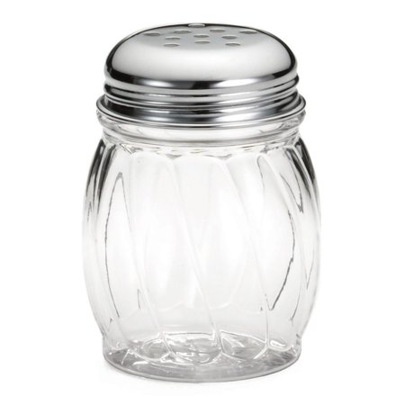 TableCraft 1260 6 Ounce Cheese Shaker with S/S Lid - 36 / CS