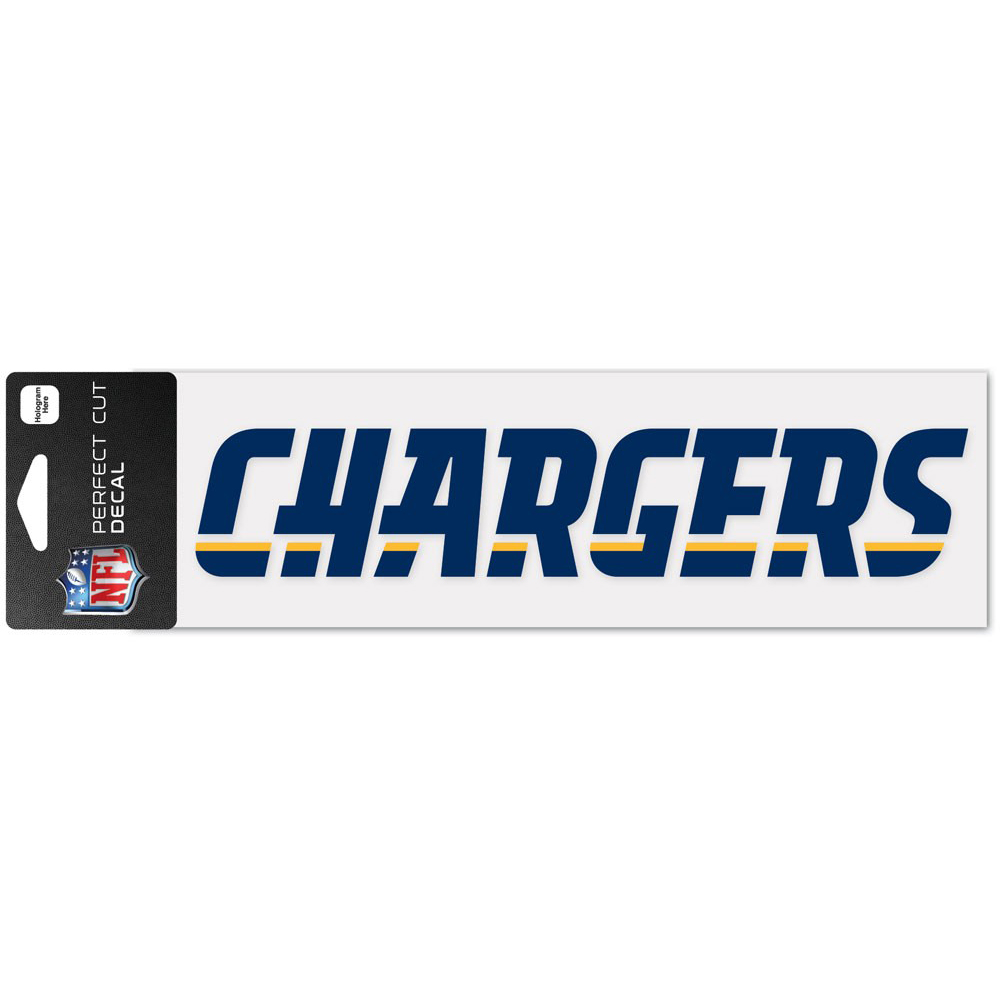 """Los Angeles Chargers WinCraft 3"""" x 10"""" Team Name Perfect Cut Decal - No Size"""