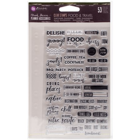 Prima Marketing Clear Stamp - My Prima Planner Clear Stamps -Frank Garcia Food & Travel