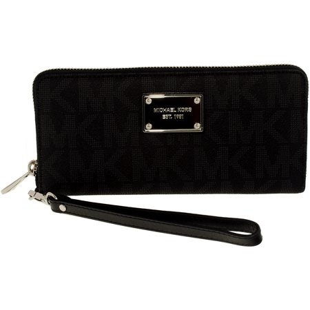 cde593dbaa78 Michael Kors - Michael Kors Women's Jet Set Travel Logo Continental Leather  Wallet Baguette - Walmart.com