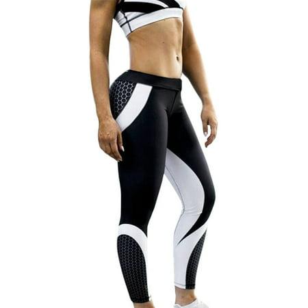 Tuscom Womens 3D Print Yoga Skinny Workout Gym Leggings Sports Training Cropped