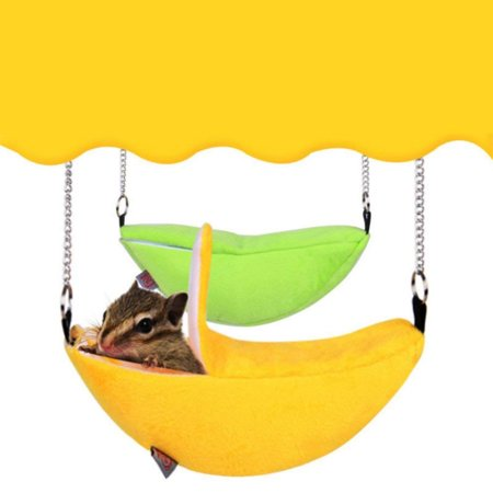 Banana Shape Hanging Hamster Sleeping Bed House Nest Pouch Sleeping Bags Hammock Bed yellow 20*6.5cm](Mens Banana Hammock)