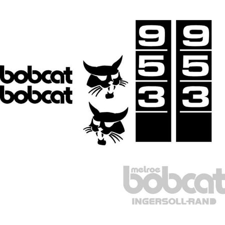 Bobcat 953 Excavator Decal Set Whole Machine Melroe
