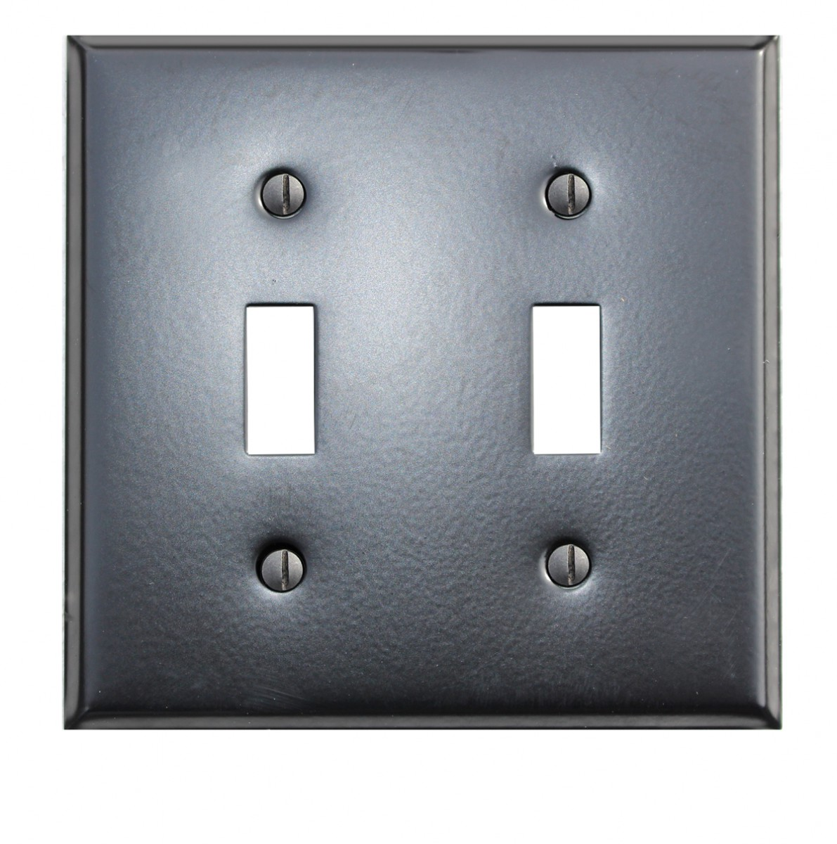 Switchplate Black Steel Double Toggle Classic | Renovator's Supply