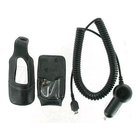 Image of OEM Alltel Car Charger & Leather Case for Samsung R430 MyShot