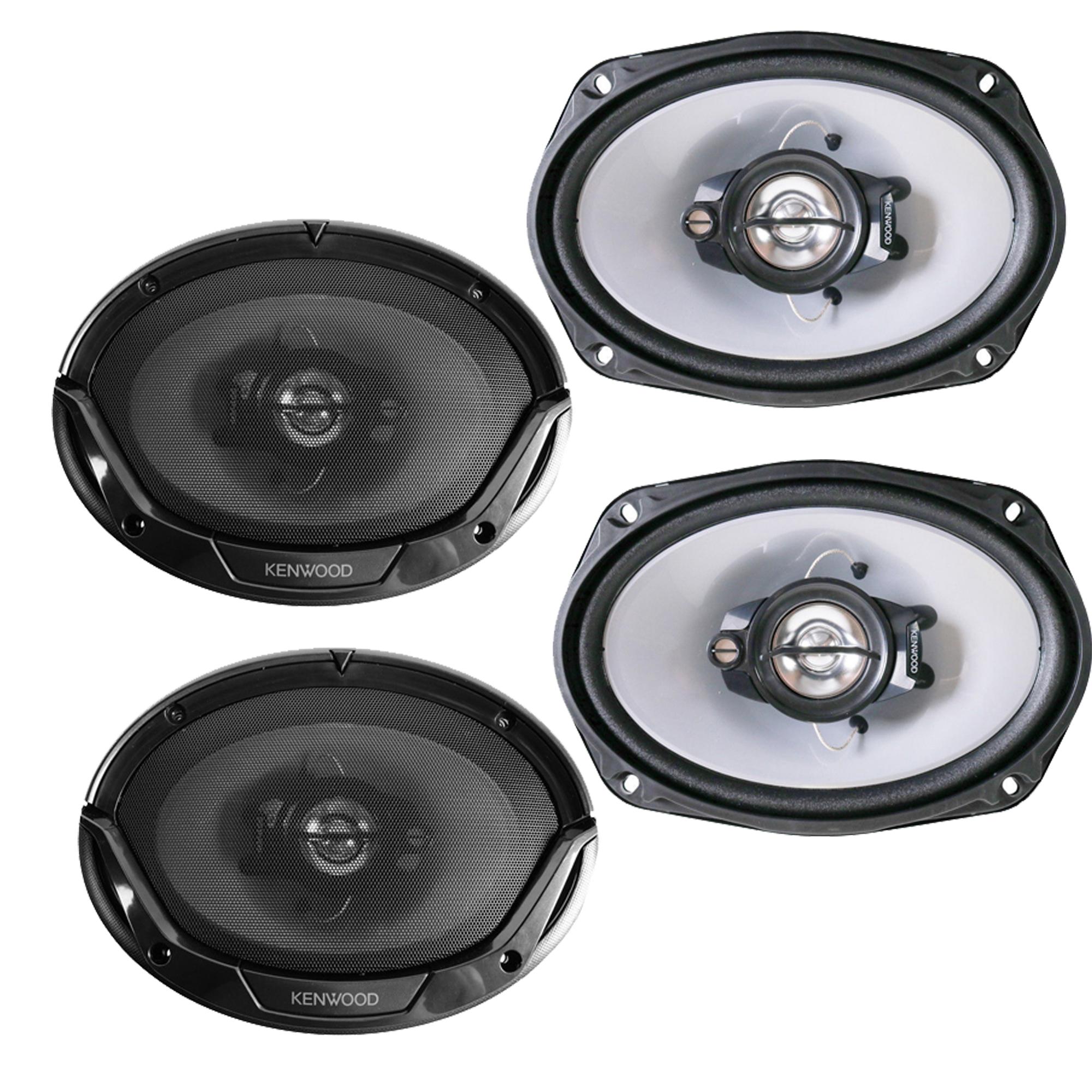 """2 Pairs Kenwood KFC-6965S 6x9"""" 800 Watt 3-Way Coaxial Speakers / 4 Speakers"""