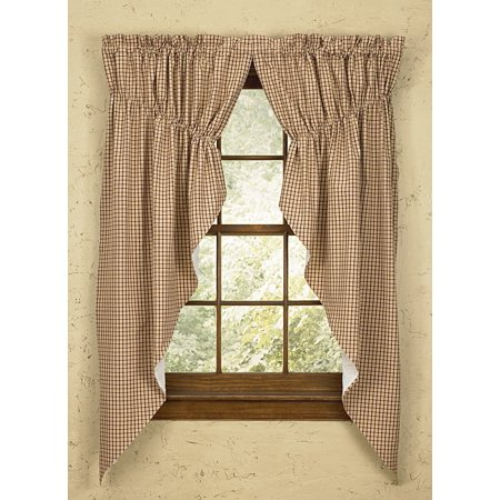 Park Designs Apple Jack Gathered Swags Prairie Curtains