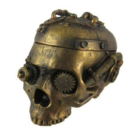 Cheap Trinkets (Steampunk Skull Trinket Box Ashtray Ash Tray Stash)