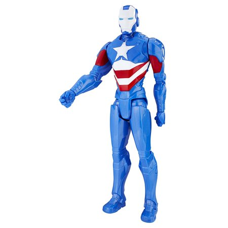 Marvel Titan Hero Series 12-inch Iron Patriot Figure, Classic Marvel Titan Hero By Avengers Ship from - Patriots Toys
