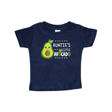 Auntie's Little Avocado with Cute Baby Avocado Baby T-Shirt
