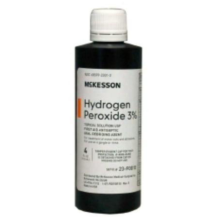 Hydrogen Peroxide McKesson 4 oz. Solution Bottle