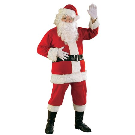 Rubie's Promotional Flannel Santa Claus Suit Adult Mens Costume, Standard