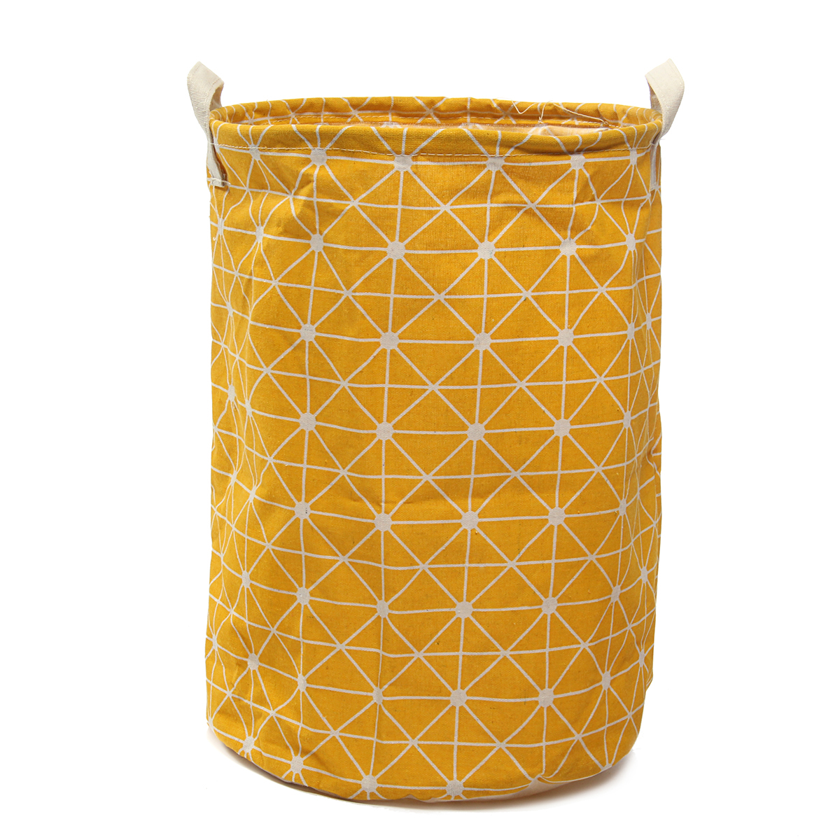 Foldable Dirty Washing Clothes & Toy Laundry Basket Hamper Storage Organizer Bag Cotton Linen Home Household