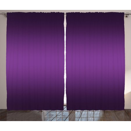 Ombre Curtains 2 Panels Set, Cinema Curtain Inspired Color Ombre Design for Room Decorations Digital Artsy Print, Window Drapes for Living Room Bedroom, 108W X 84L Inches, Purple, by (Colours That Go With Purple In A Bedroom)