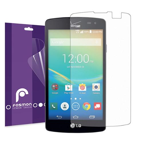 Fosmon Screen Protector Shield Film Guard for LG Transpyre - Anti-Glare - 3 Pack