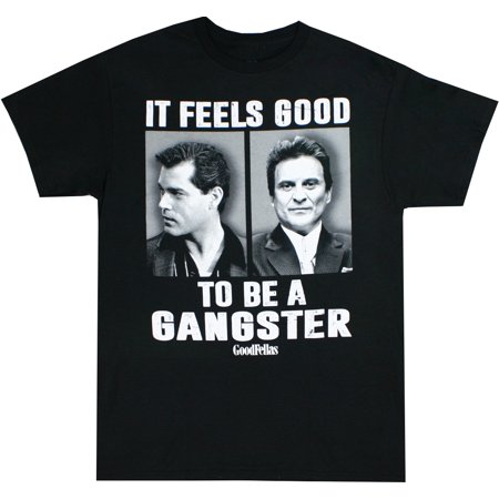 Goodfellas Feels Good To Be a Gangster Men's Black Shirt - Gangsta Men