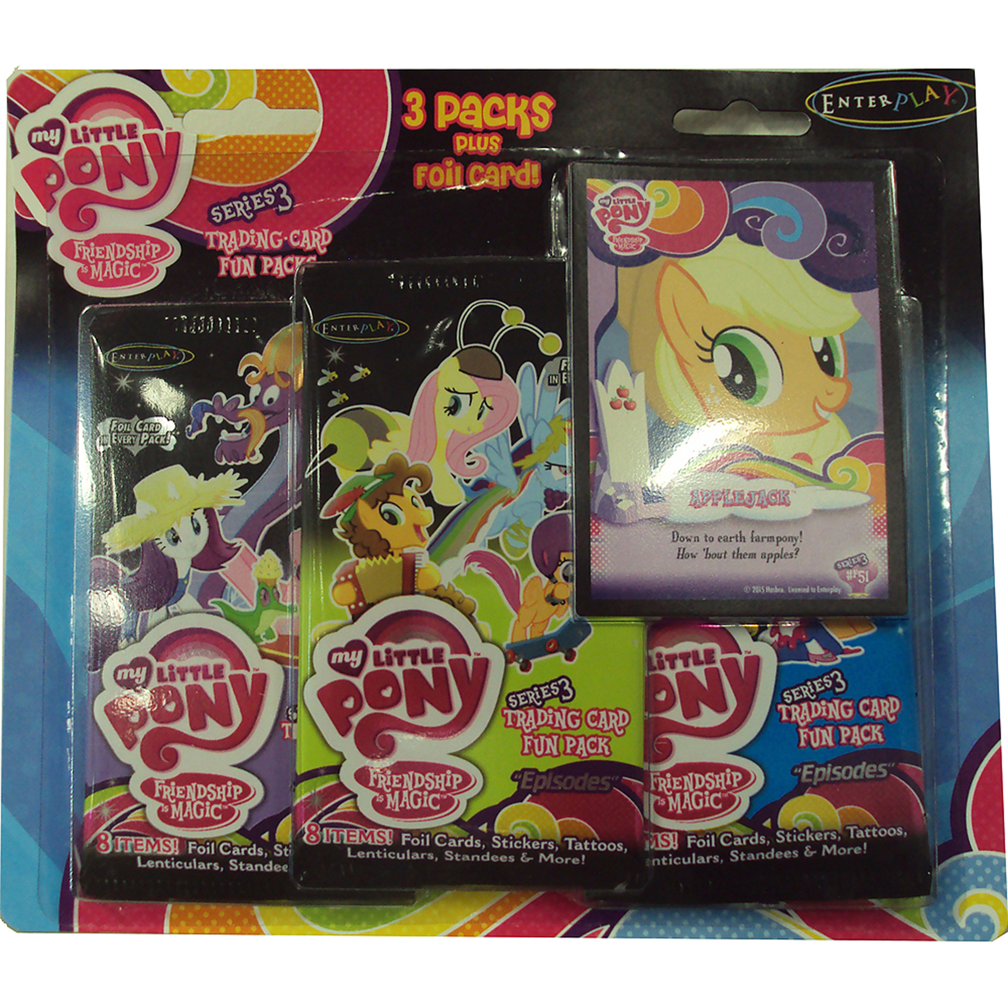My Little Pony Friendship is Magic Series Trading Card Fun Pack, 3 Pack