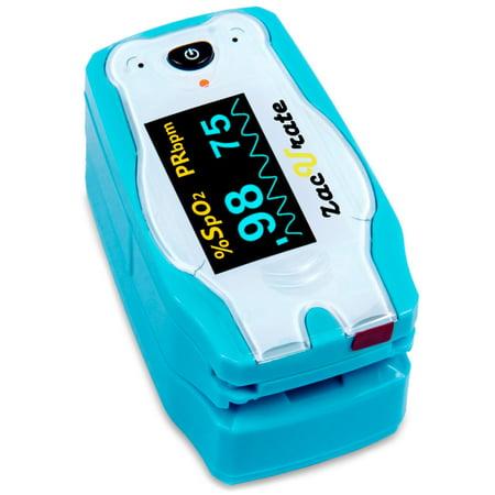 Zacurate Pediatric Animal Theme Fingertip Pulse Oximeter, Polar Bear
