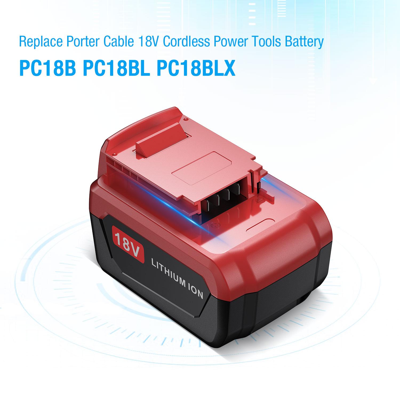 18V 4.0Ah Lithium Battery For Porter Cable 18 Volt PC18B PC18BL PC18BLX PCMVC US