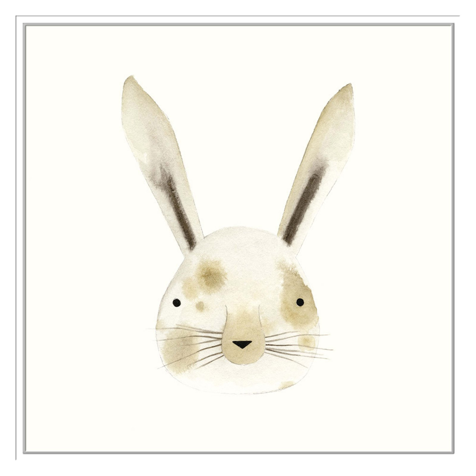 PTM Images Rabbit Watercolor Face Framed Canvas Wall Art