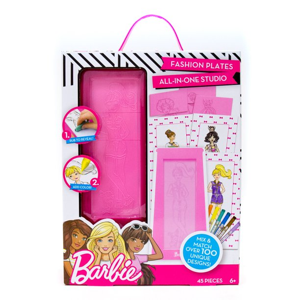 Barbie Mix And Match Fashion Plates By Horizon Group Usa Walmart Com Walmart Com