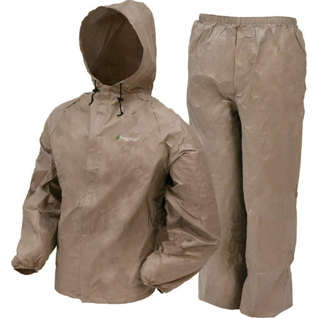 Frogg Toggs Mens Ultra Lite Lightweight Rainwear Rain Suit, Khaki Medium/Large