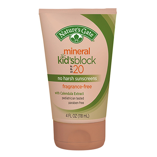 Natures Gate Mineral Kids Block Spf 20 Fragrance Free, With Calendula Extract -  4 Oz