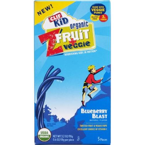 Clif Kid Organic Z Fruit + Veggie Fruit Twists, Blueberry Blast, 3.2 oz, 5 Ct by Clif Bar & Company