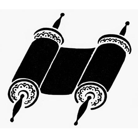Judaism Torah Nscroll Of The Torah A Symbol Of Judaism Poster Print
