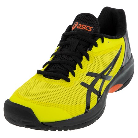 Men`s GEL-Court Speed Tennis Shoes Safety Yellow and Black