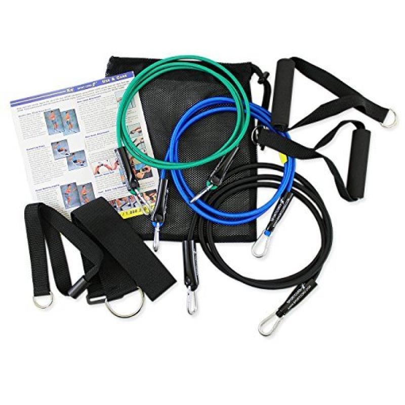 STI SportCord Resistance Bands - 7 Piece Bungee-Type Fitn...