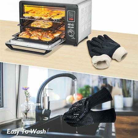 BBQ Grilling Gloves Heat Resistant 923?F Cooking Gloves Hot Food Gloves Anti-Slip Aramid Fiber - image 4 de 6
