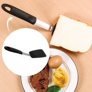 Kitchen Cooking Silicone Turner Heat Resistant Non-scratch Cooking Mixing Utensil Black