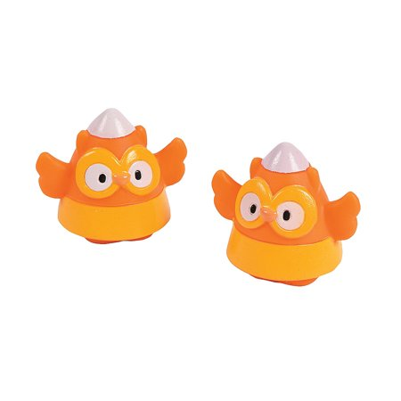 Fun Express - Candy Corn Owls Vinyl Characters for Halloween - Toys - Character Toys - Vinyl Characters - Halloween - 12 Pieces (Character For Halloween)