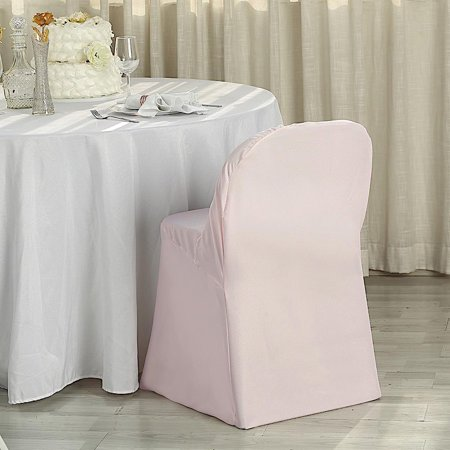 Balsacircle Polyester Folding Flat Chair Cover Slipcover For Party Wedding Reception Decorations