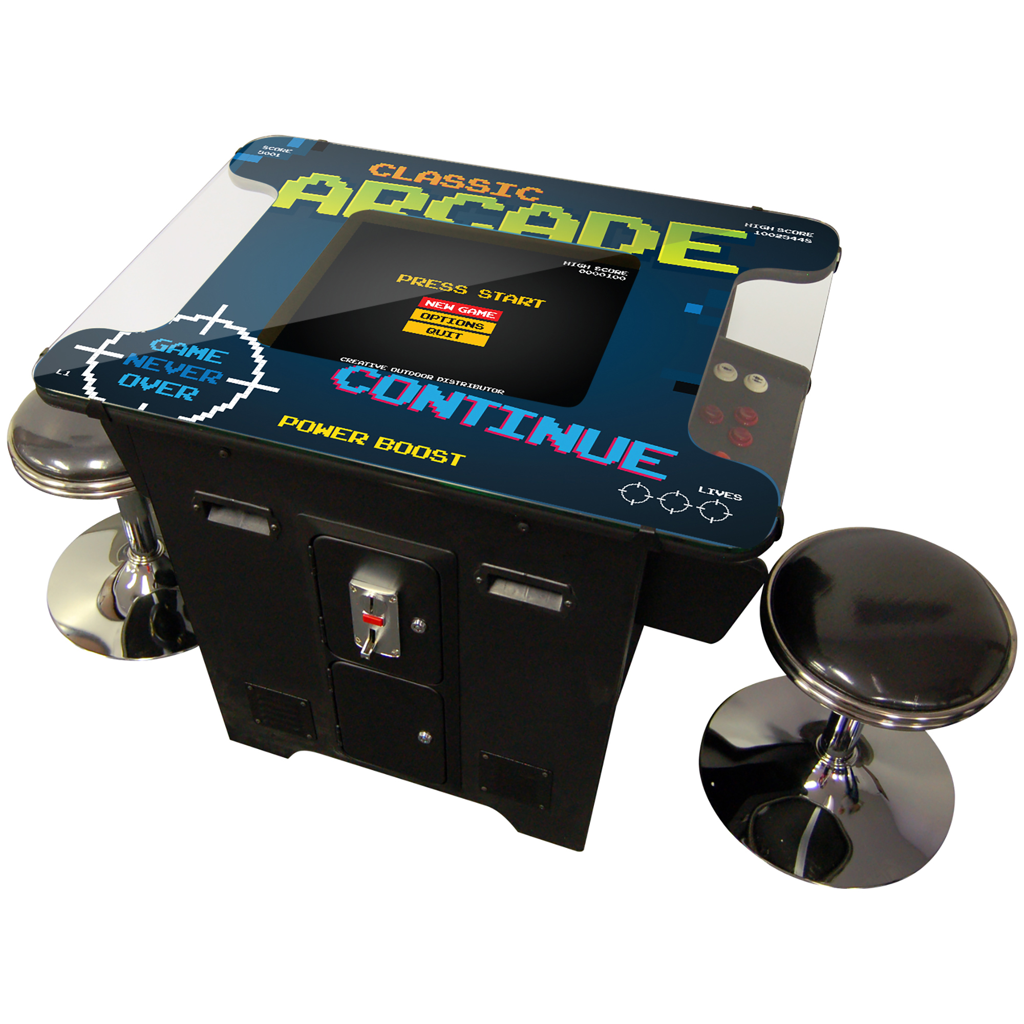 Creative Outdoor Cocktail Arcade Machine 412 Games Commercial Grade with Free STOOLS