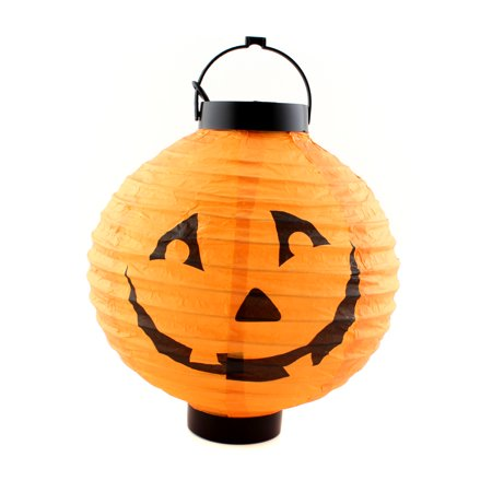 Halloween Pumpkin Hanging Lamp with LED lighting Paper Lantern for Scary Party Decoration, Orange - Scary Gnomes For Sale