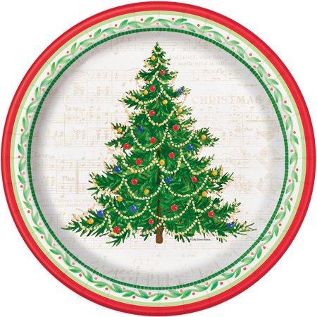 Classic Christmas Tree Paper Plates, 10.25 in, 8ct for $<!---->