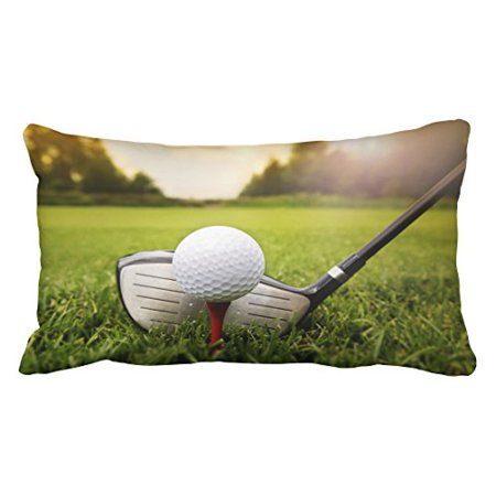 Golf Theme Ideas (WinHome Decorative Fashion Golf Ball on the Green Grass Pillow Case You Perfect Idea Size 20x30 inches Two)