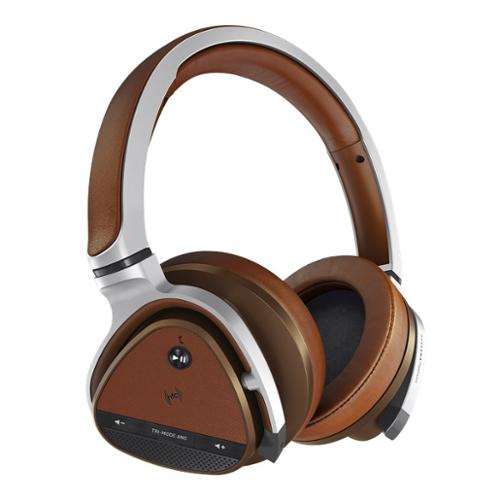 Creative Aurvana Platinum Headset - Stereo - Silver, Brown - Mini-phone - Wired/wireless - Bluetooth/nfc - 32.8 Ft - 32 Ohm - 10 Hz - 25 Khz - Gold Plated - Over-the-head - Binaural - (51ef0590aa002)