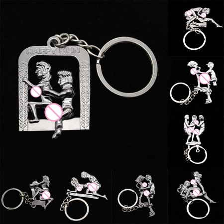 Girl12Queen Sexy Lover Keychain Keyring Adult Funny Toy Car Key Holder Bag Pendant - Funny Keychains
