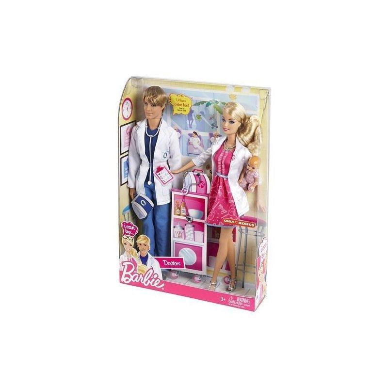 Mattel I Can Be Doctors Barbie and Ken Dolls Exclusive